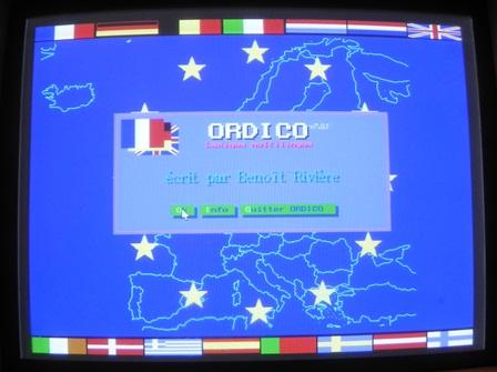 Ecran de présentation de ORDICO (version PC)