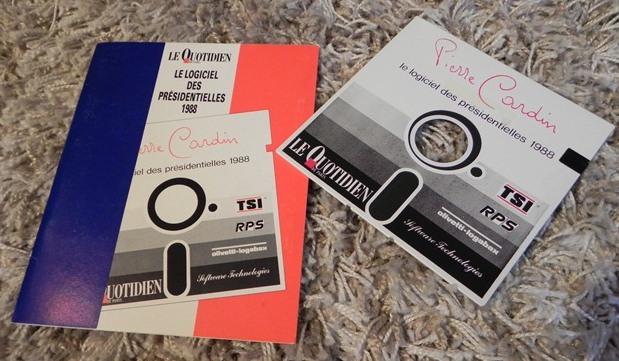 """""""Le logiciel des présidentielles 1988"""" (disquette 5""""1/4)"""