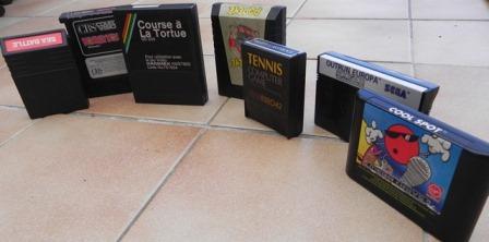Différents formats de cartouches de jeux (de 1979 à 1993)
