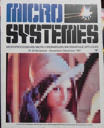 MICRO SYSTEMES, couverture du n° 20 (novembre-décembre 1981)
