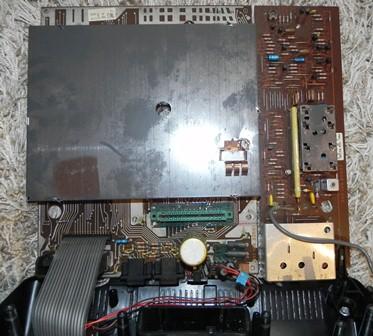 Les entrailles de la Videopac C52 de Philips : un contenu assez dépouillé !