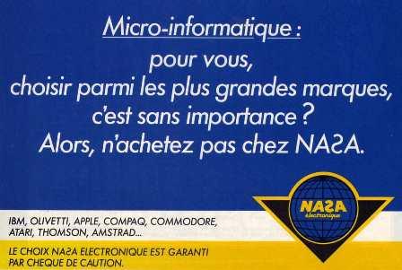 Publicité pour les magasins NASA (1986)