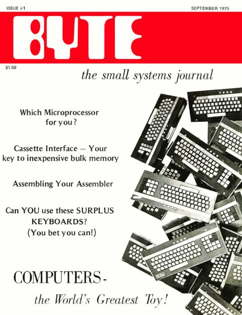 Couverture du numéro 1 de la revue américaine BYTE (septembre 1975)