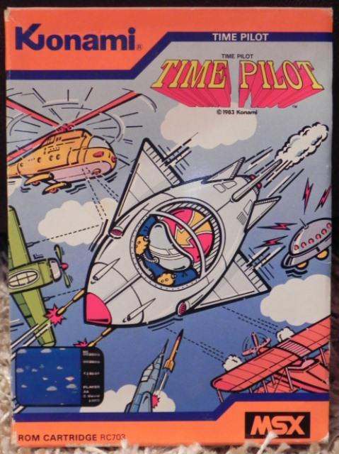 Time Pilot (Konami, 1983), jeu sur cartouche