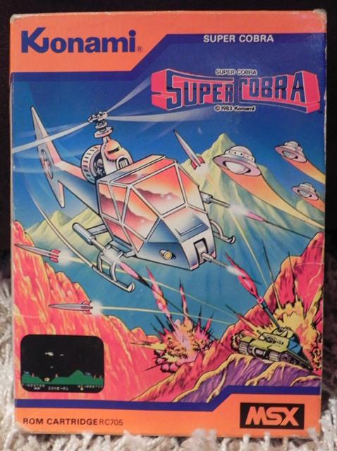 Super Cobra (Konami, 1983), jeu sur cartouche