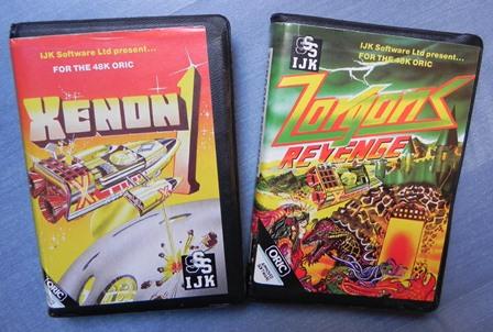 Xenon et Zorgon Revenge : jeux sur cassettes pour Oric