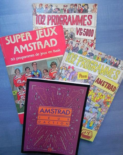 """Livres de programmation Basic : """"102 programmes pour"""", """"Super Jeux"""", """"Jeux d'action"""""""