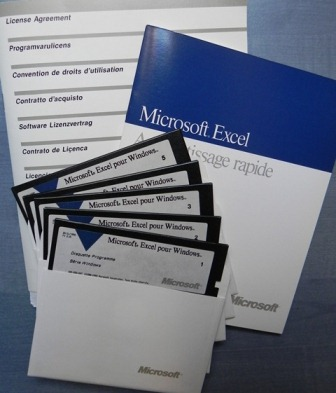 """Le tableur Microsoft Excel sur disquettes 5""""1/4"""