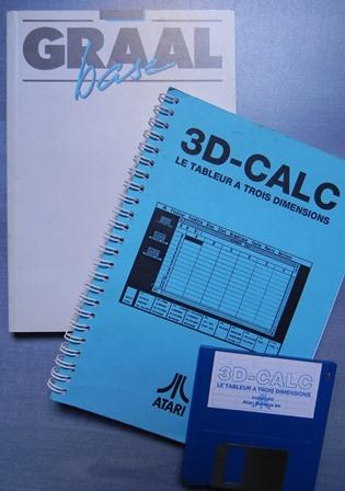 La base de données Graal Base et le tableur 3D-Calc sur ATARI ST