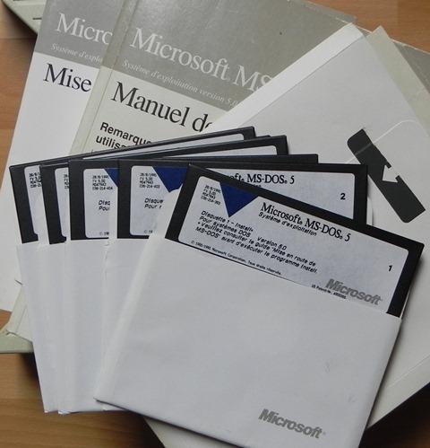 Le système d'exploitation MS/DOS version 5 (1991)