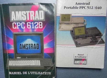 Manuels utilisateur pour AMSTRAD CPC 6128 et portables PPC 512 / 640