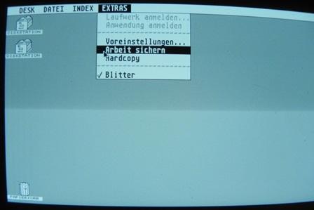 Environnement GEM de l'Atari 1040 STE (version allemande)