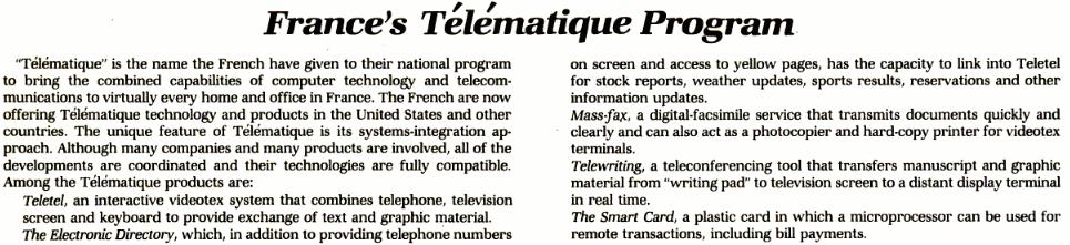 France's Télématique Program, InfoWorld du 16 mars 1981 (n° 5, volume 3), (cliquer pour agrandir)