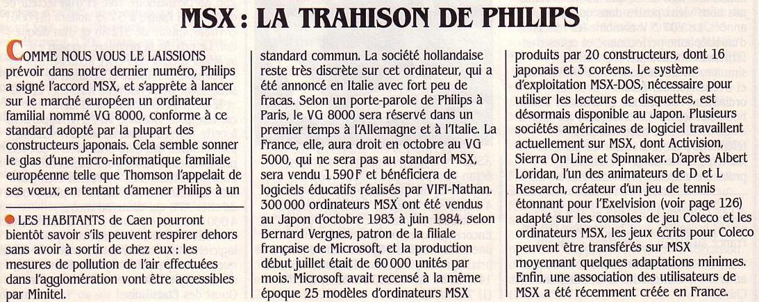 MSX : la trahison de Philips, Science & Vie Micro n° 9 (septembre 1984), p. 16