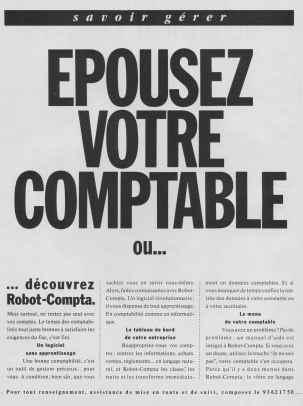 Publicité pour Robot-Compta (1989)