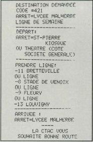 Top Alex fournit en temps réel les trajets et horaires des bus de la CTAC à Caen (SVM 11, 1984)
