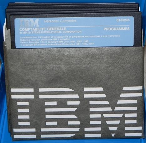 Logiciel de comptabilité générale v1.0 de BPI SYSTEMS pour IBM (1983)