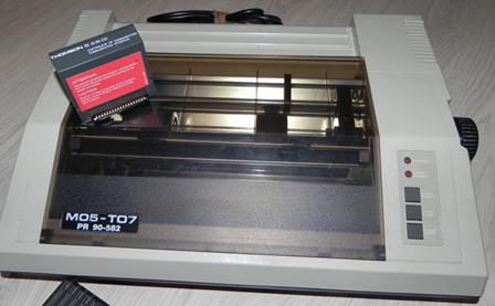 Imprimante pour MO5 et TO7 et son contrôleur