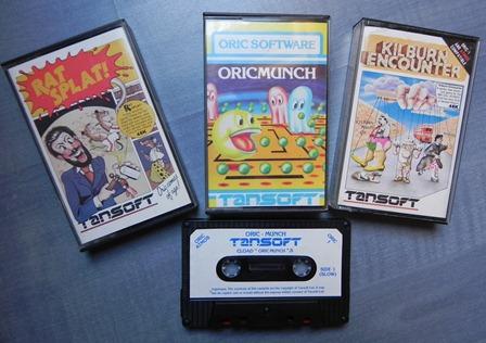 Jeux pour ordinateurs ORIC édités par Tansoft dont OricMunch (adaptation de Pac Man)