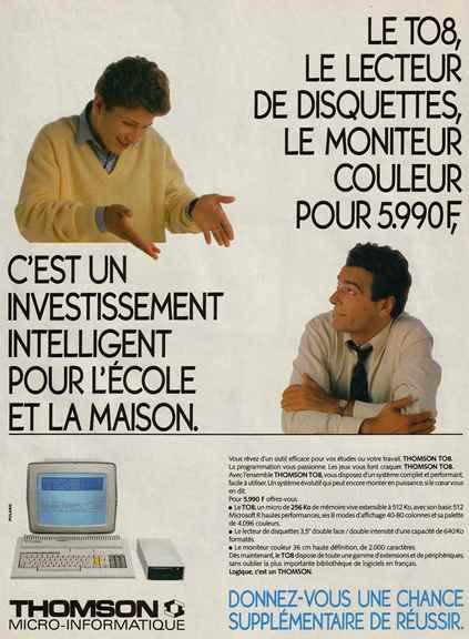 Publicité pour le TO8 (1986)