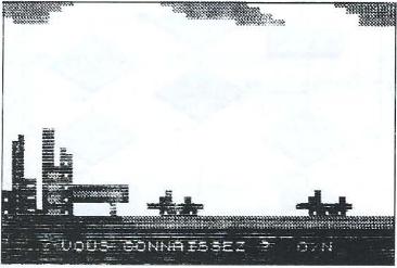Copie écran d'un jeu sur ZX 81 : un graphisme époustouflant... à l'époque