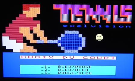 Le jeu TENNIS montre toutes les capacités graphiques et sonores de l'EXL 100