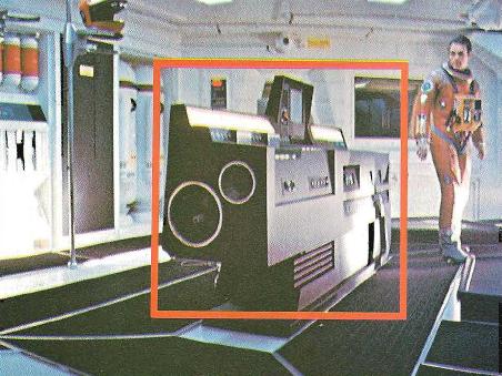 L'ordinateur Hal, machine parlante dans le film 2001, l'Odyssée de l'espace