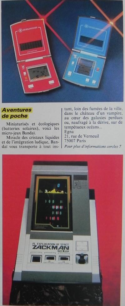 Aventures de poche : jeux miniatures solaires de Bandaï, Micro-Systèmes n° 32 (juin 1983) p. 17