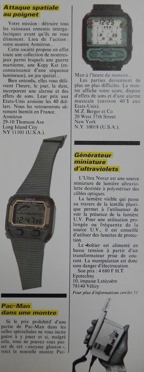 Pac-Man dans sa montre... (Micro-Systèmes n° 30, avril 1983)