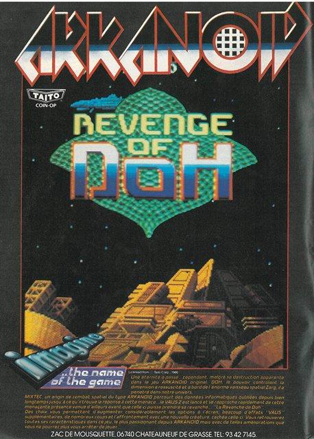 Publicité pour ARKANOID (1988)