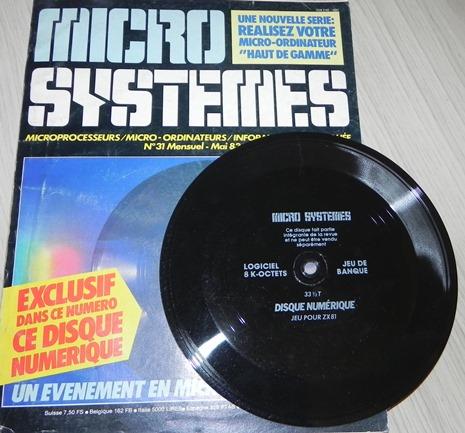 Disque numérique pour ZX81 encarté dans la revue Micro-Système n° 31 (mai 1983)
