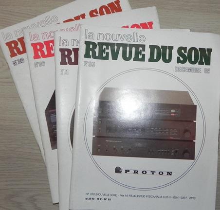 La Nouvelle Revue du Son : n° 89, 90, 91, 92 (juin à décembre 1985) : très bon état