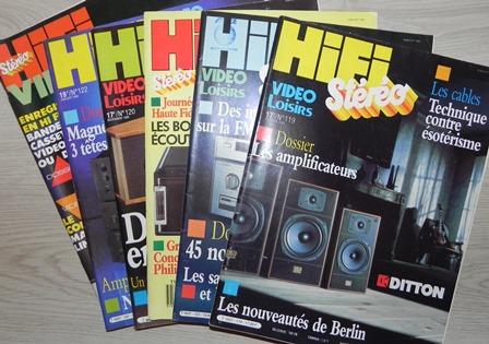 HIFI Stéréo, n° 119 (octobre 1985), 120, 122, 123, 136, 143 (décembre 1987) : bon à très bon état
