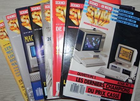 Science & Vie Micro : n° 35 (janvier 1987), 37, 38, 39, 40, 42, 46, 49 (avril 1988) : bon à très bon état