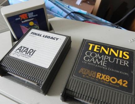 Cartouches de jeu pour console ATARI XE : Ballblazer, Final Legacy et Tennis