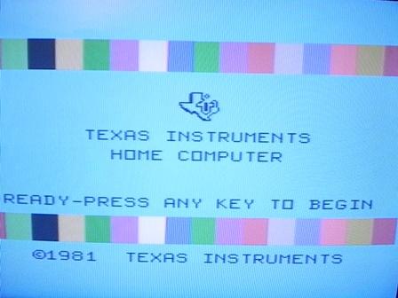 L'écran d'accueil du TI-99/4A