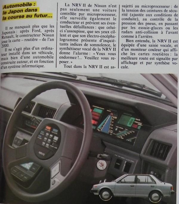 Automobile : le Japon dans la course au futur... Après Ford et Renault, Nissan joue la carte de l'an 2000 avec NRV II, Micro-Systèmes n° 36 (novembre 1983), p. 27