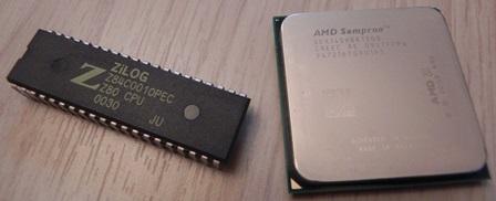 Microprocesseurs Zilog Z80 et AMD Sempron : 30 ans les séparent