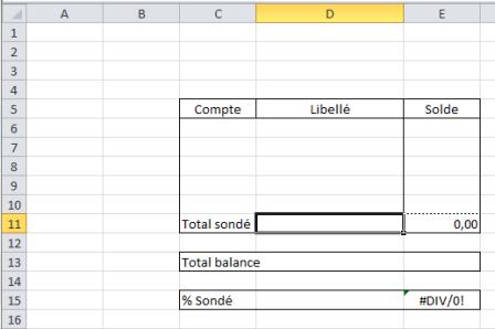 Tableau Excel à réaliser manuellement pendant le processus d'enregistrement de macro
