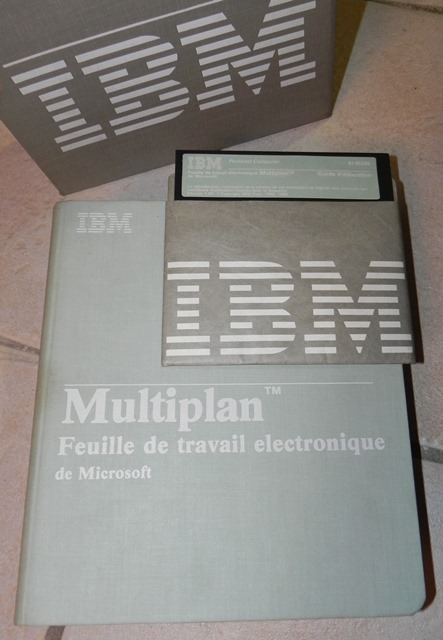 Version 1.0 de Multiplan, la feuille de calcul électronique de Microsoft