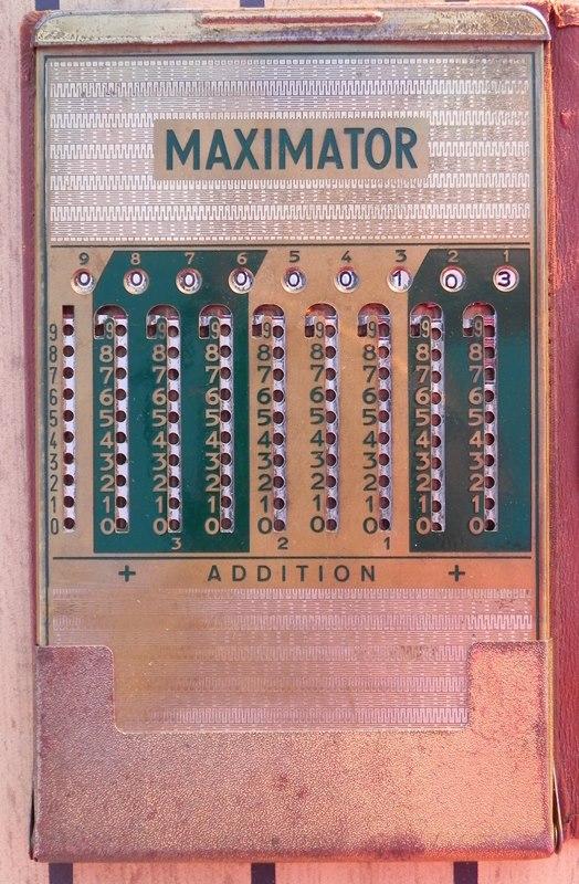 Machine à calculer MAXIMATOR (additions et soustractions)