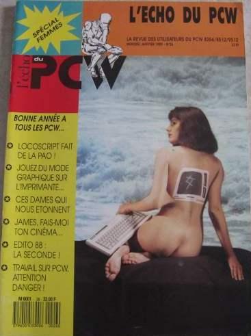 Couverture du Echo du PCW n° 26 (janvier 1989) : Spécial Femmes !