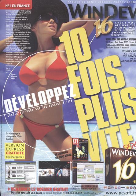 Publicité WinDev 16 (2011) : que de promesses !
