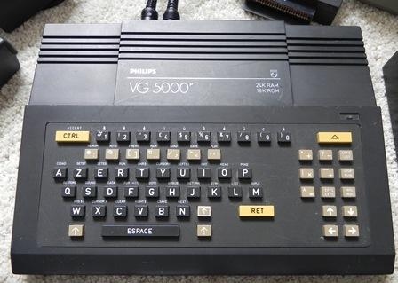 """Zoom sur le clavier """"minitel"""" du VG 5000"""