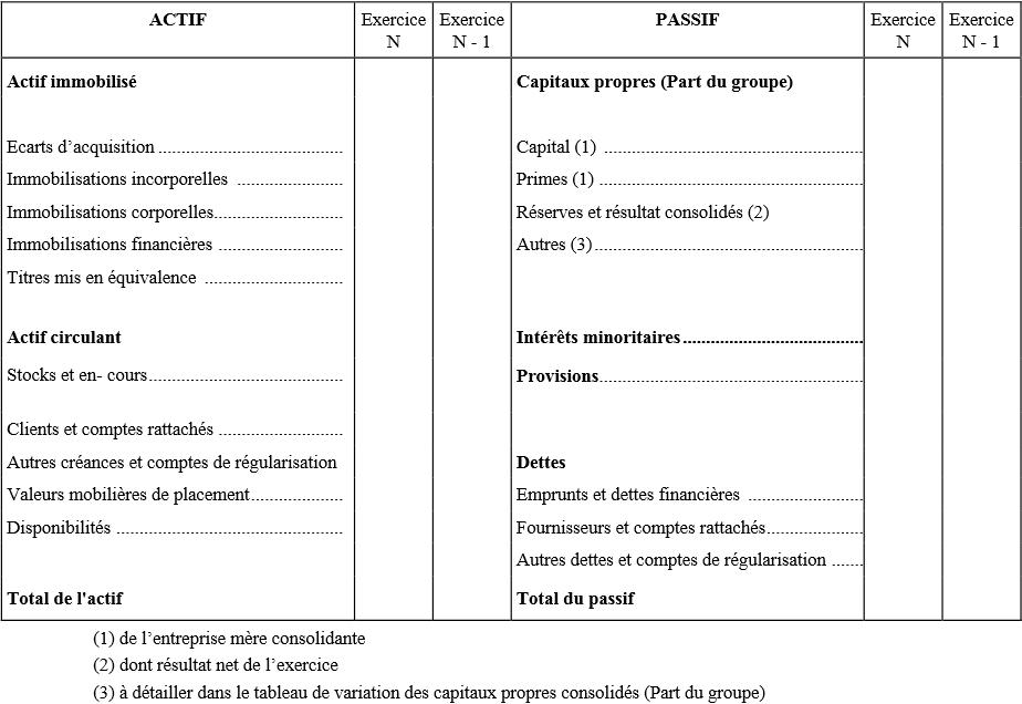 Modèle de bilan consolidé CRC 99-02