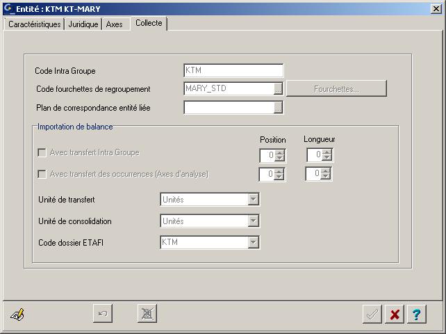 ETAFI CONSO - Paramètres entité - Onglet Collecte