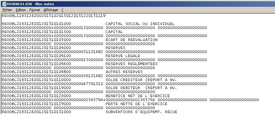 Fichier CSV à importer