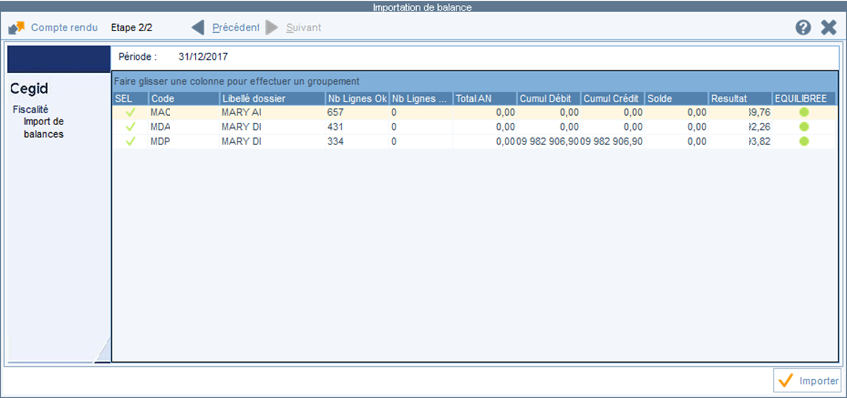 ETAFI Import multi dossier 4