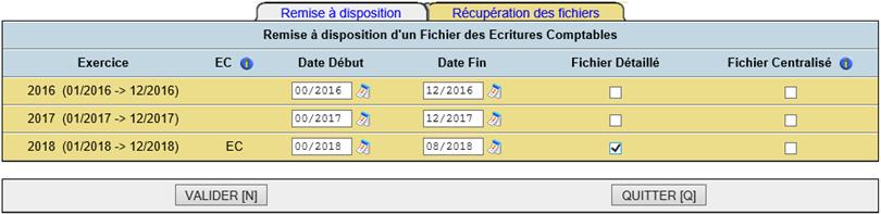 DCSnet FEC Paramétrage