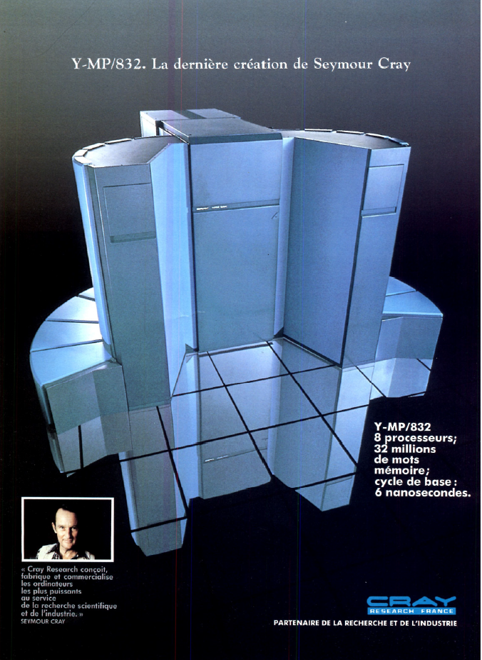 Supercalculateur Y-MP-832 de CRAY (publicité 1988)